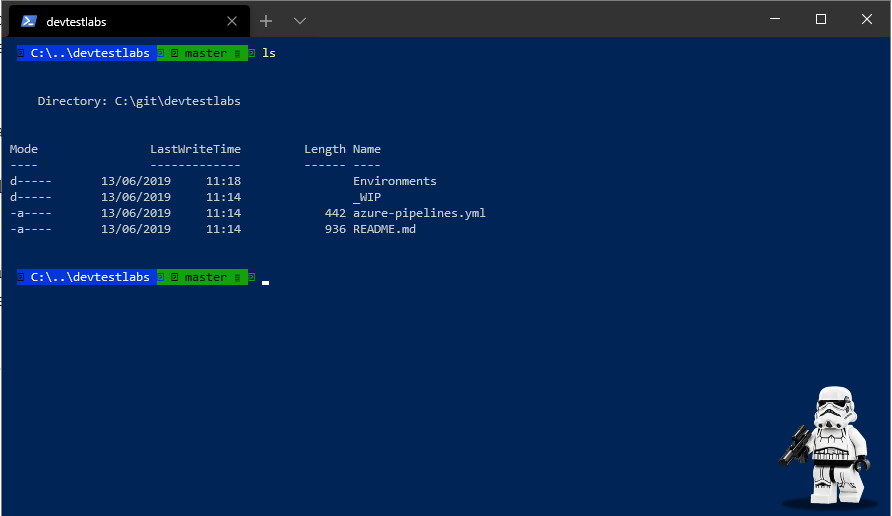 Screenshot of Windows Terminal with missing icons.