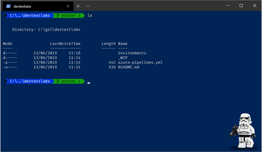 Screenshot of Powershell tab displaying current profile settings